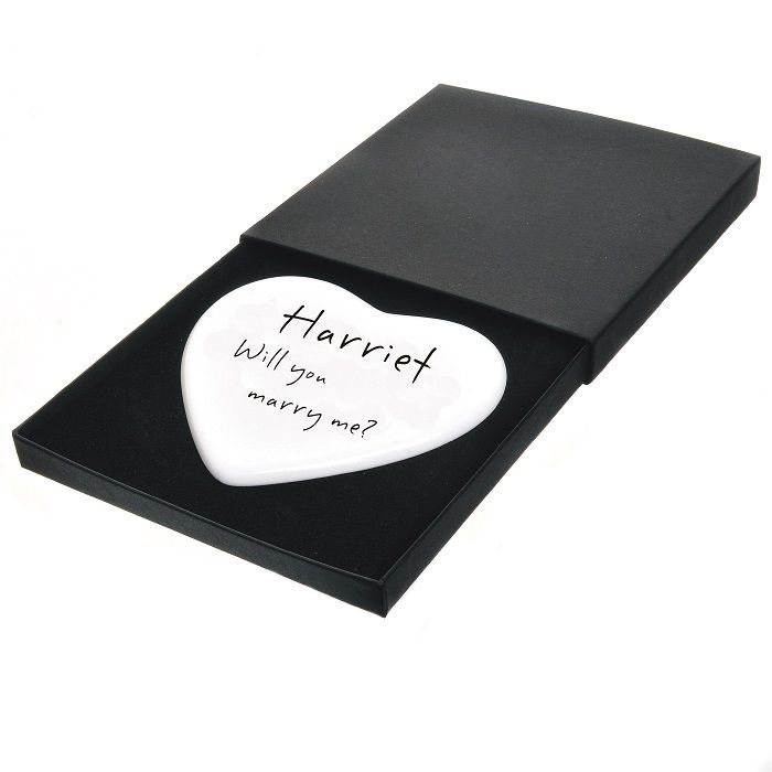 Me Personalised Boxed Ceramic Heart Personalised Engagement Gift